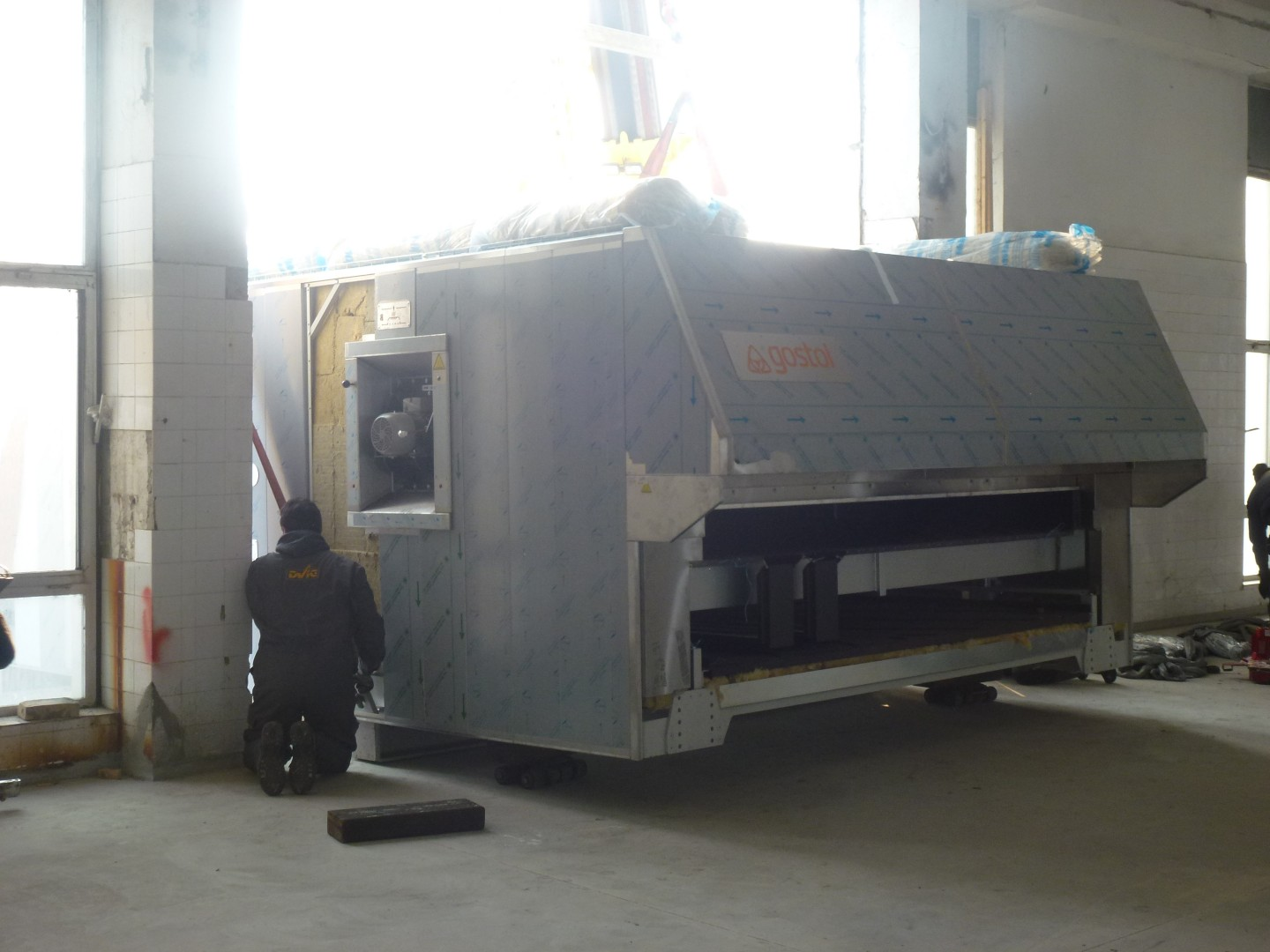 Specific logisic work at intaking of Gostol tunnel baking oven into bakery in Serbia