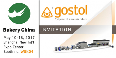 Invitation to Bakery China exhibition, Shanghai, 10th -13 th May, 2017