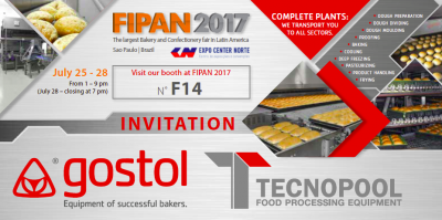 Gostol and Tecnopool invite you on exhibition FIPAN, Sao Paolo, Brazil from 25 th to 28 th July, 2017